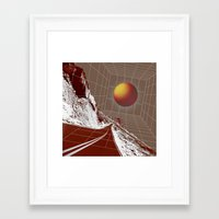 drive Framed Art Prints featuring Drive by DM Davis
