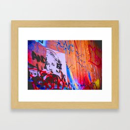 Eye Spy Graffiti Framed Art Print