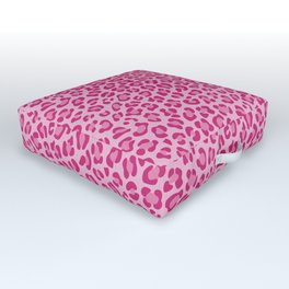 Leopard - Lilac and Pink Outdoor Floor Cushion