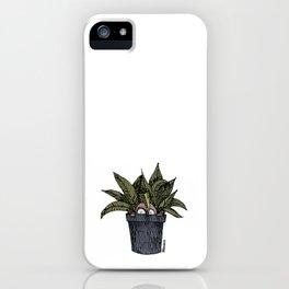 Mr. Tiny + Pot iPhone Case