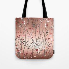 Floral, Rose Gold Sky Tote Bag