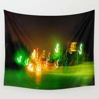 austin Wall Tapestries featuring Austin Lights by Robert McHugh