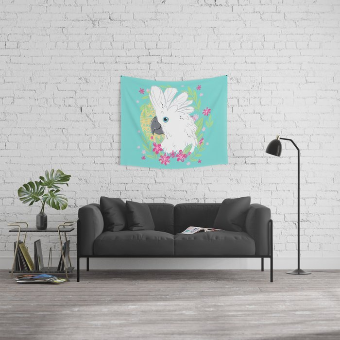 Umbrella Cockatoo Wall Tapestry