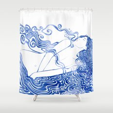 Water Nymph LXVII Shower Curtain