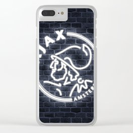 Ajax Amstersdam Neon Sign Clear iPhone Case