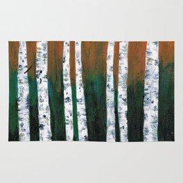 Birch Trees Rug