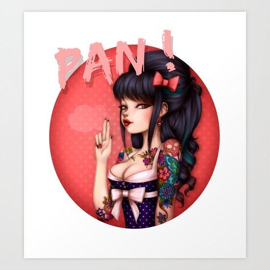 Rockabilly Girl ! Art Print
