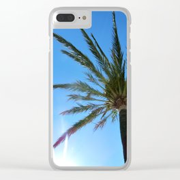 Palm in the sun Clear iPhone Case