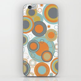 Retro Mid Century Modern Circles Geometric Bubbles Pattern iPhone Skin