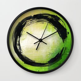 Enso Abstraction No. mm13 by Kathy Morton Stanion Wall Clock