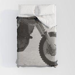 Motocross Dirt-Bike Racer Duvet Cover