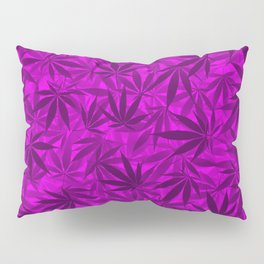 Marijuana leaves (purple) Pillow Sham