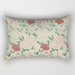 William Morris Cray Floral Pre-Raphaelite Vintage Art Nouveau Pattern Rectangular Pillow