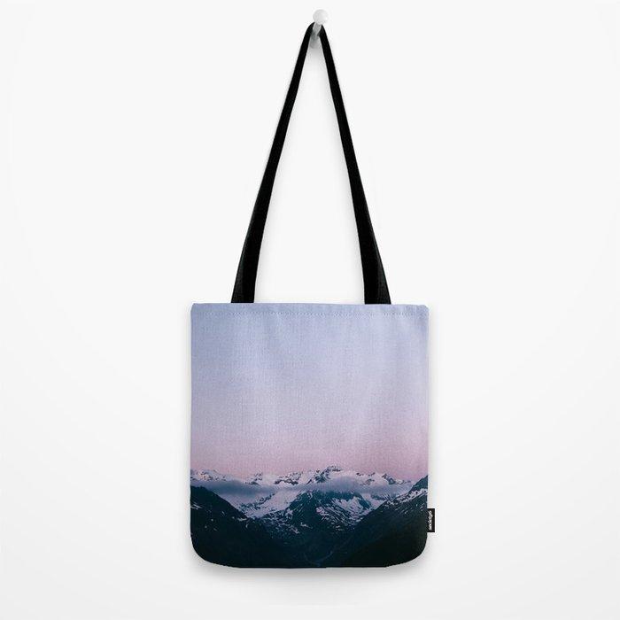 Sunset Mountains (pastel) Tote Bag
