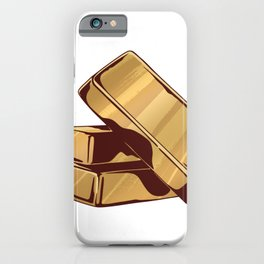 Gold bars gold iPhone Case