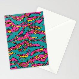 Masharakat Tigerstripe Neon Camouflage Stationery Cards