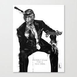 Zombie Bespoke (With Copy) Canvas Print