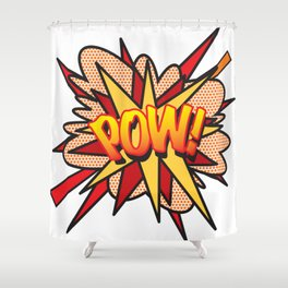 Comic Book Pop Art POW! Shower Curtain