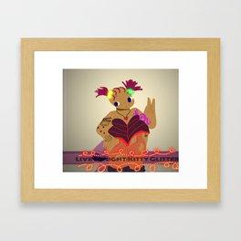 Kitty Glitter Framed Art Print