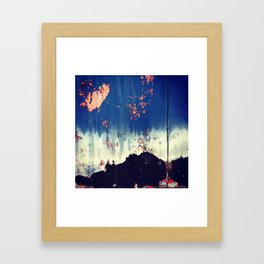 Abstract Paint Layers (Door) Framed Art Print