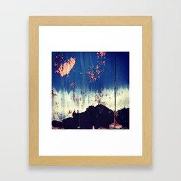 Abstract Paint Layers (Door) Framed Art Print