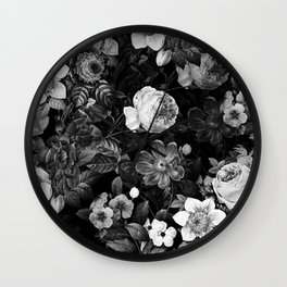 Black and White Garden Wall Clock
