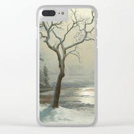 Albert Bierstadt - Winter in Yosemite Clear iPhone Case