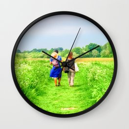 A Walk In The Countryside Wall Clock