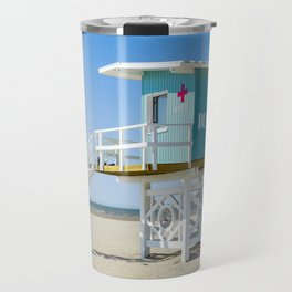 Lifeguardhouse at the Beach in Deauville France Travel Mug