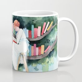 The Reader and the Tree Library Coffee Mug