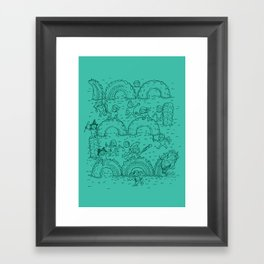The Tire Dragon Framed Art Print