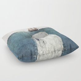 The Whale - vintage  Floor Pillow