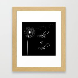 Make a wish - inverted Framed Art Print