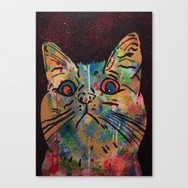 cosmic moggie by Barrie J Davies 2015 Canvas Print