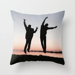 Sunset Jump Throw Pillow