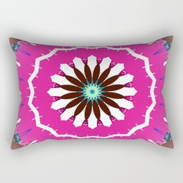Bright Pink and White Flower Rectangular Pillow