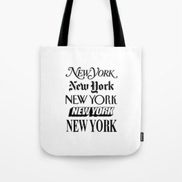 I Heart New York City Black and White New York Poster I Love NYC Design black-white home wall decor Tote Bag