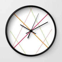 x pattern x&0 Wall Clock