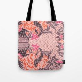 Bali Batik pink orange Tote Bag