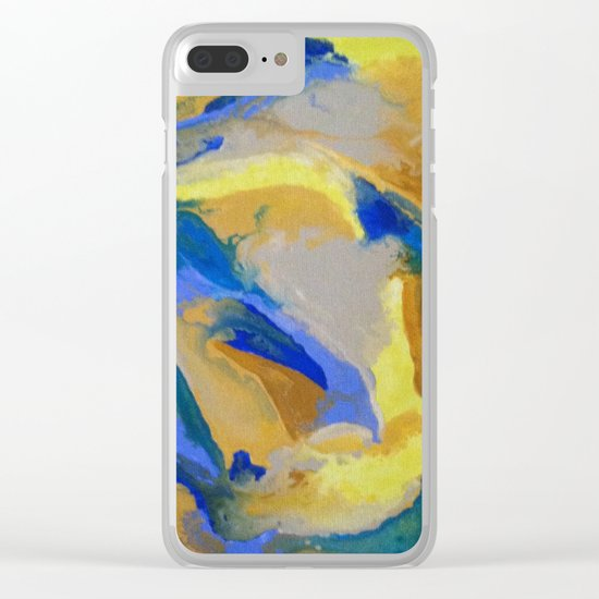 Joy and Calm Clear iPhone Case