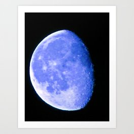 Icy Blue Moon Art Print