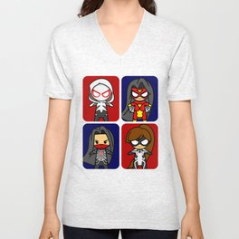 Spider Gals Unisex V-Neck