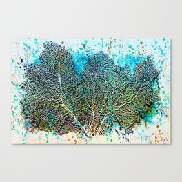 Ocean Sea Fan by Barbara Chichester Paintographer Canvas Print