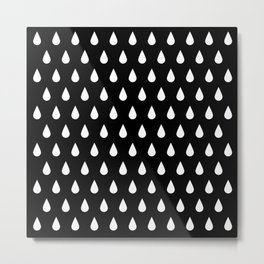 White Rain Metal Print