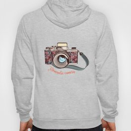 Beautiful pretty gurlish camera with flowers Hoody