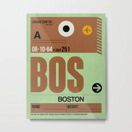 BOS Boston Luggage Tag 1 Metal Print