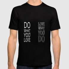 Do What You Love Black MEDIUM Mens Fitted Tee