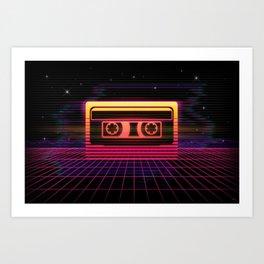 Sunset Cassette Art Print