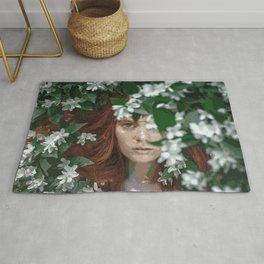 Meadow Girl (Floral Boho Art) #zala02creations #society6 Rug