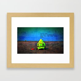 Just Getting By Framed Art Print